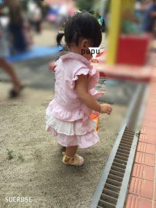 妖精の庭甚平ドレスの着画