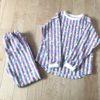 肩落ちラウンドプルオーバーのパジャマ