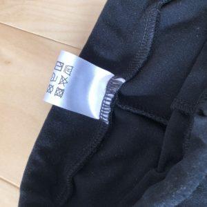 タグの縫い付けミス